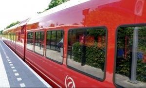 De trein van Zuidhorn naar Groningen