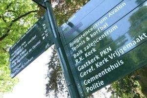 Wegwijzer in Zuidhorn